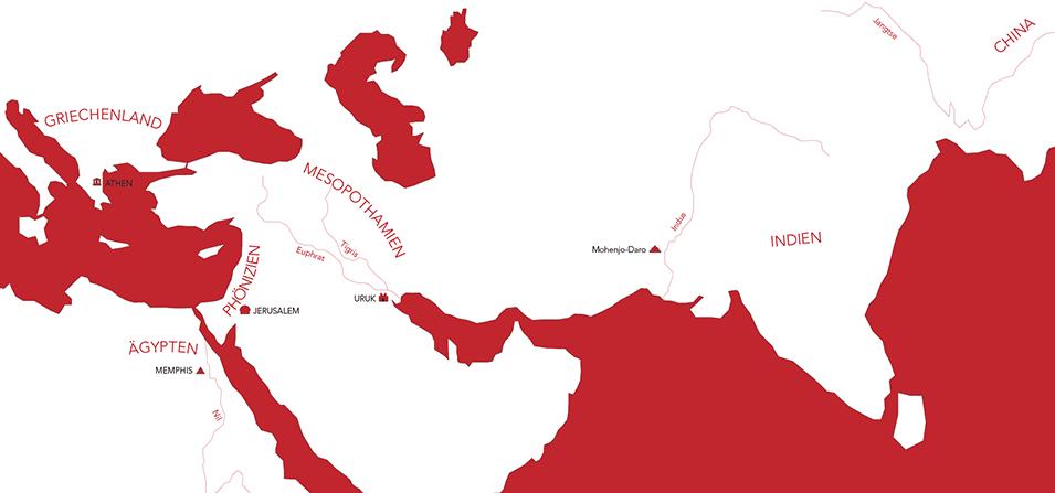 Illustration einer alten Landkarte