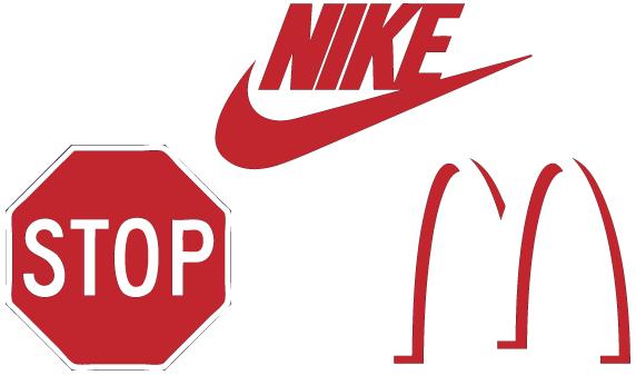 Moderne Symbole und Logos
