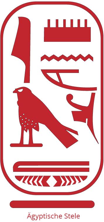 Ägyptische Stele