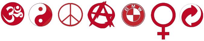 Bild zeigt verschiede Logos mit kreisrunder Grundform