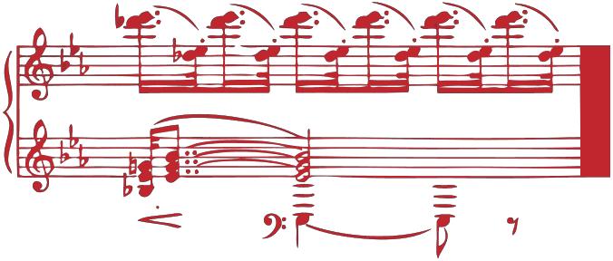 Bild einer Notation in Rot