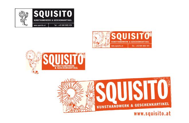 Verschiedenen Varianten des Squisito-Logos